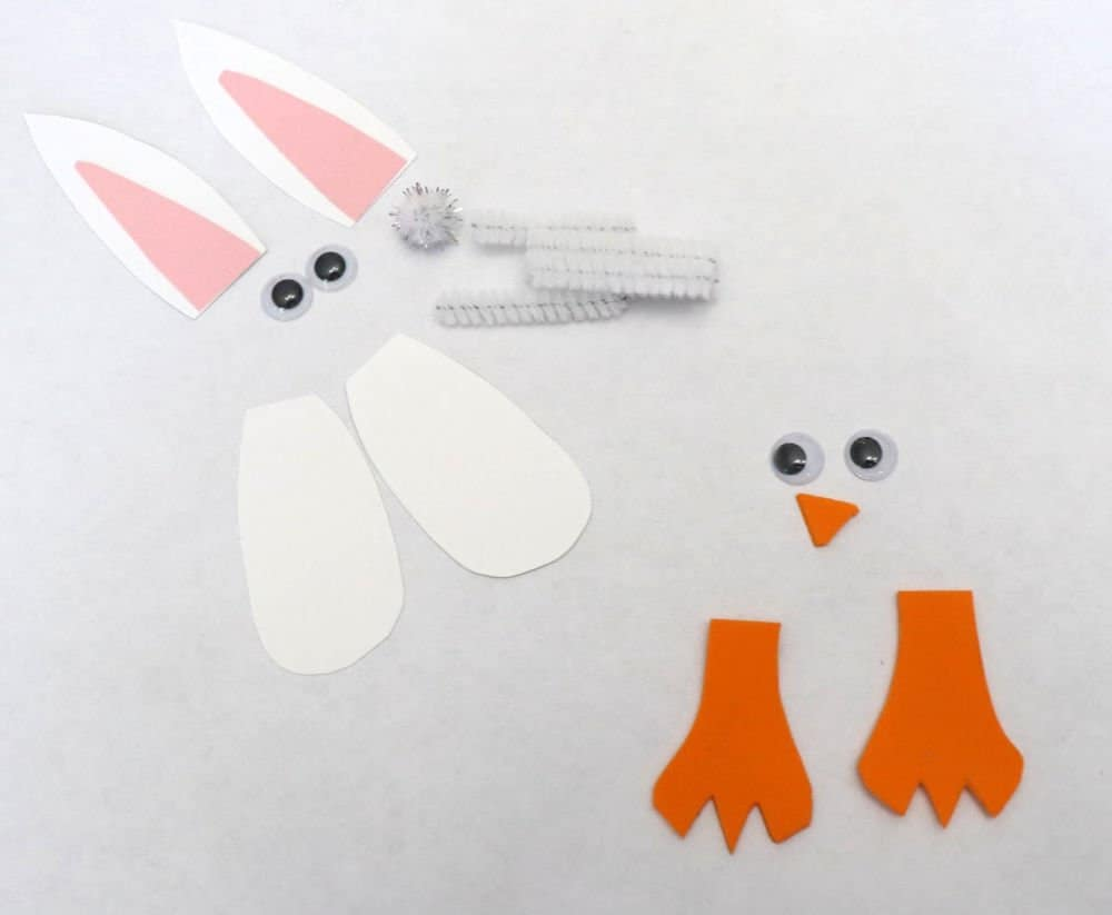easter mason jars bunny and chick pieces