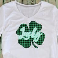 Make a Layered Vinyl St. Patrick's Day Shirt