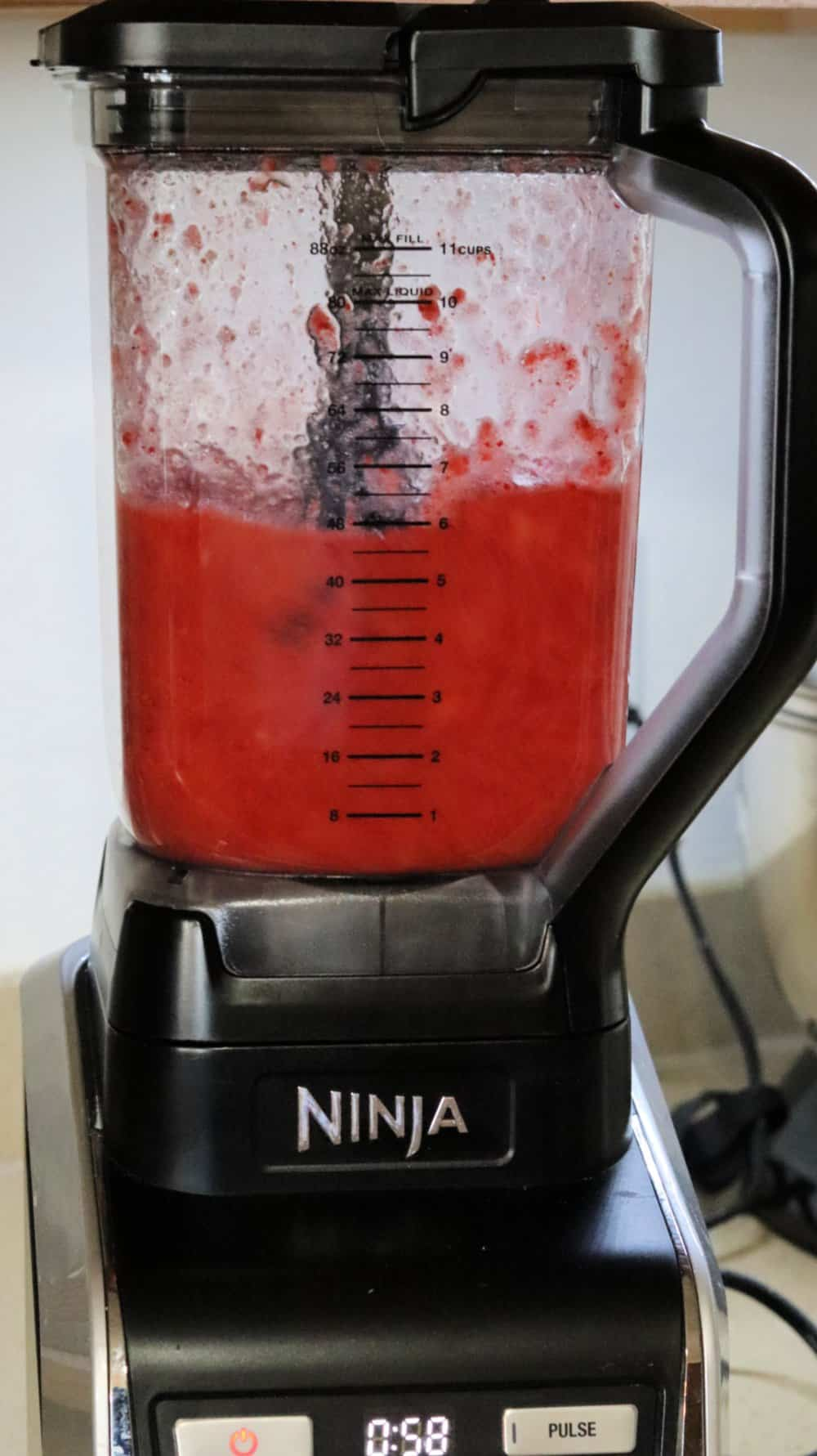 Strawberry froze in a ninja