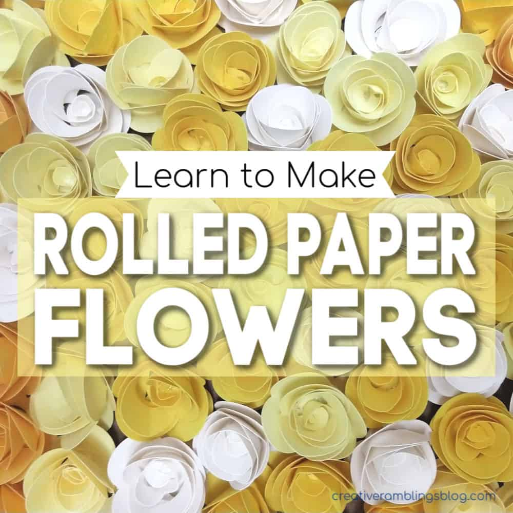 learn to make rolled paper flowers square