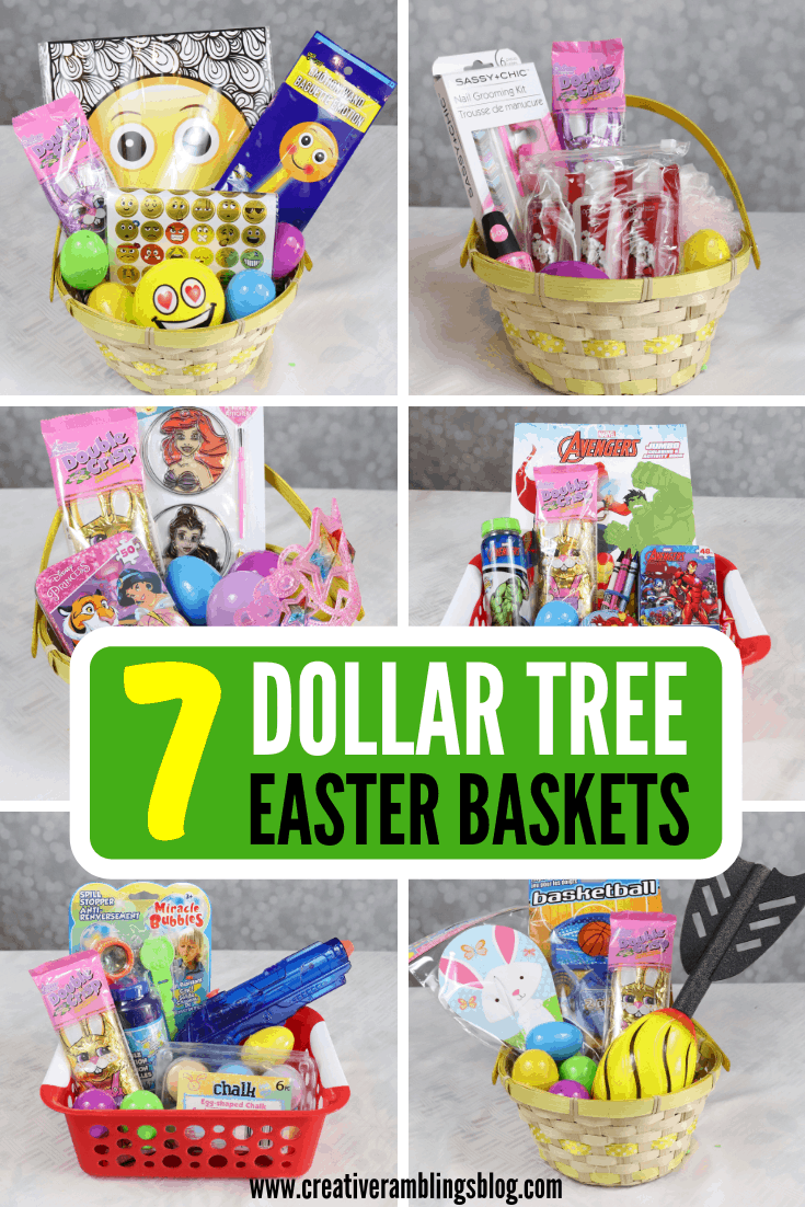 7 Dollar Tree Easter Baskets Pin