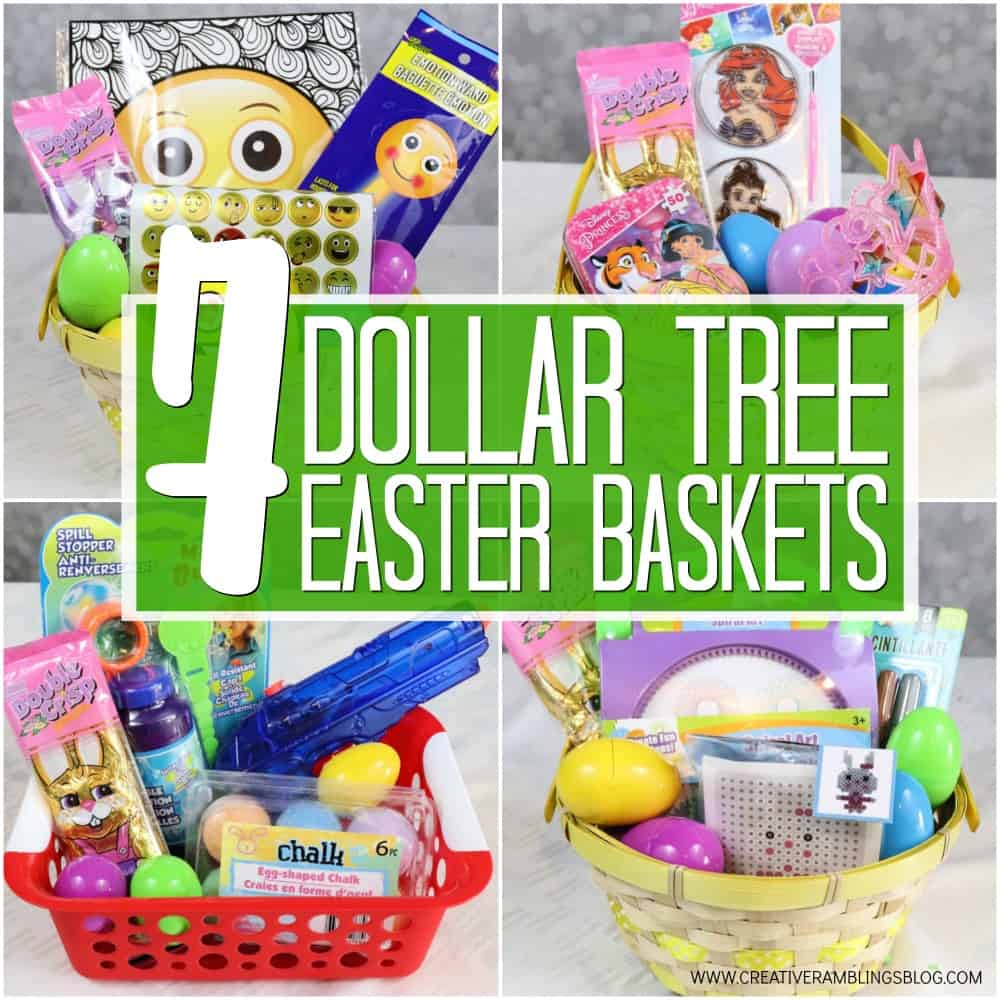 7 Dollar Tree Easter basket ideas square