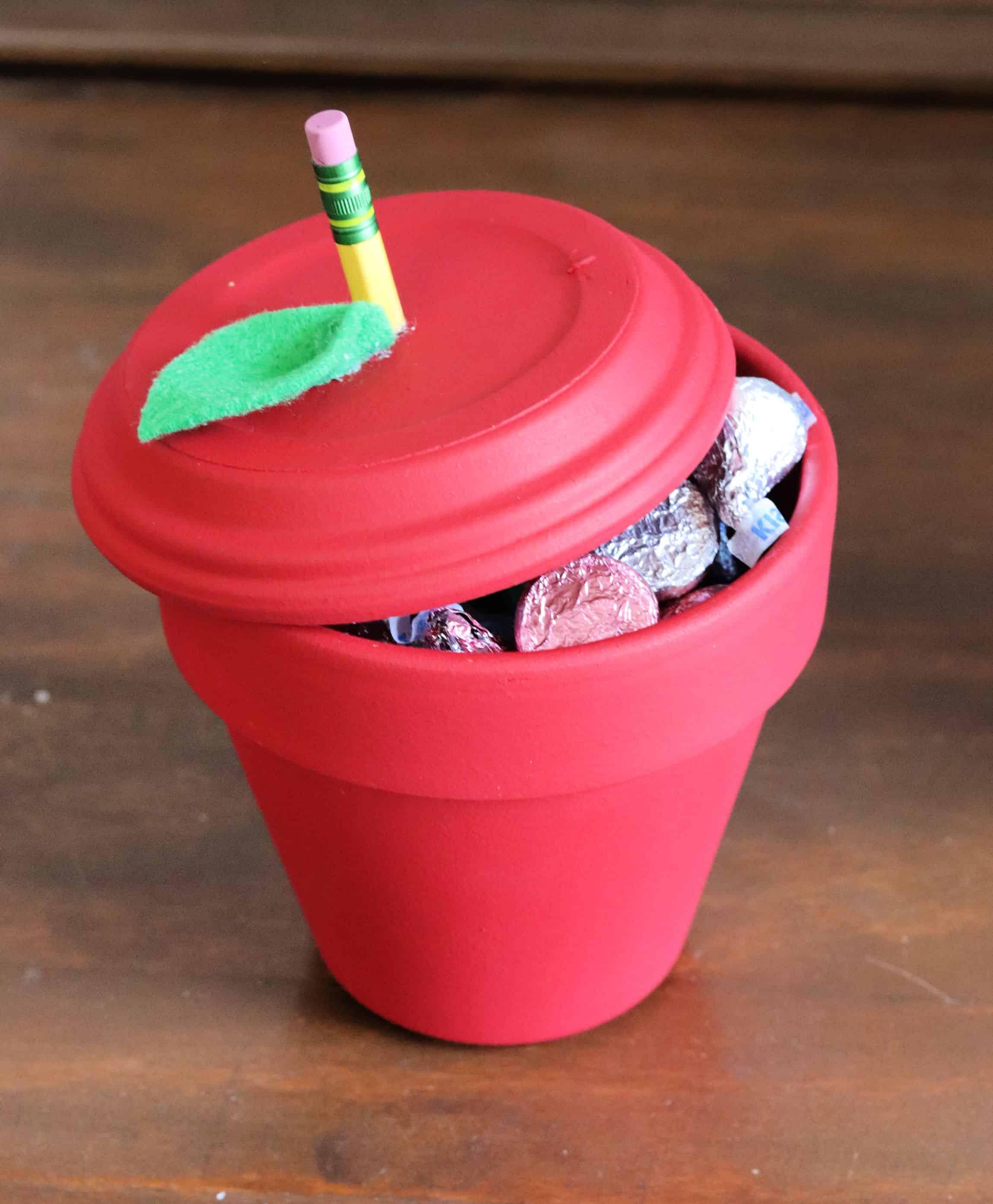 Candy Filled Apple Teacher Gift - Creative Ramblings