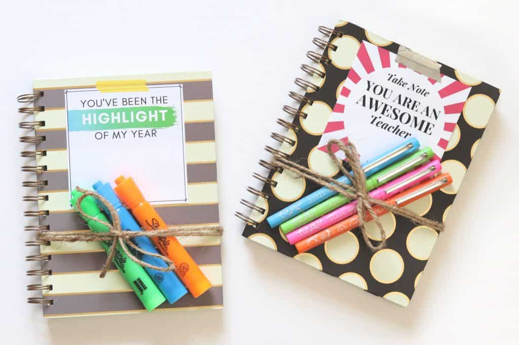 DIY Teacher Gifts with Printable Tags - Creative Ramblings
