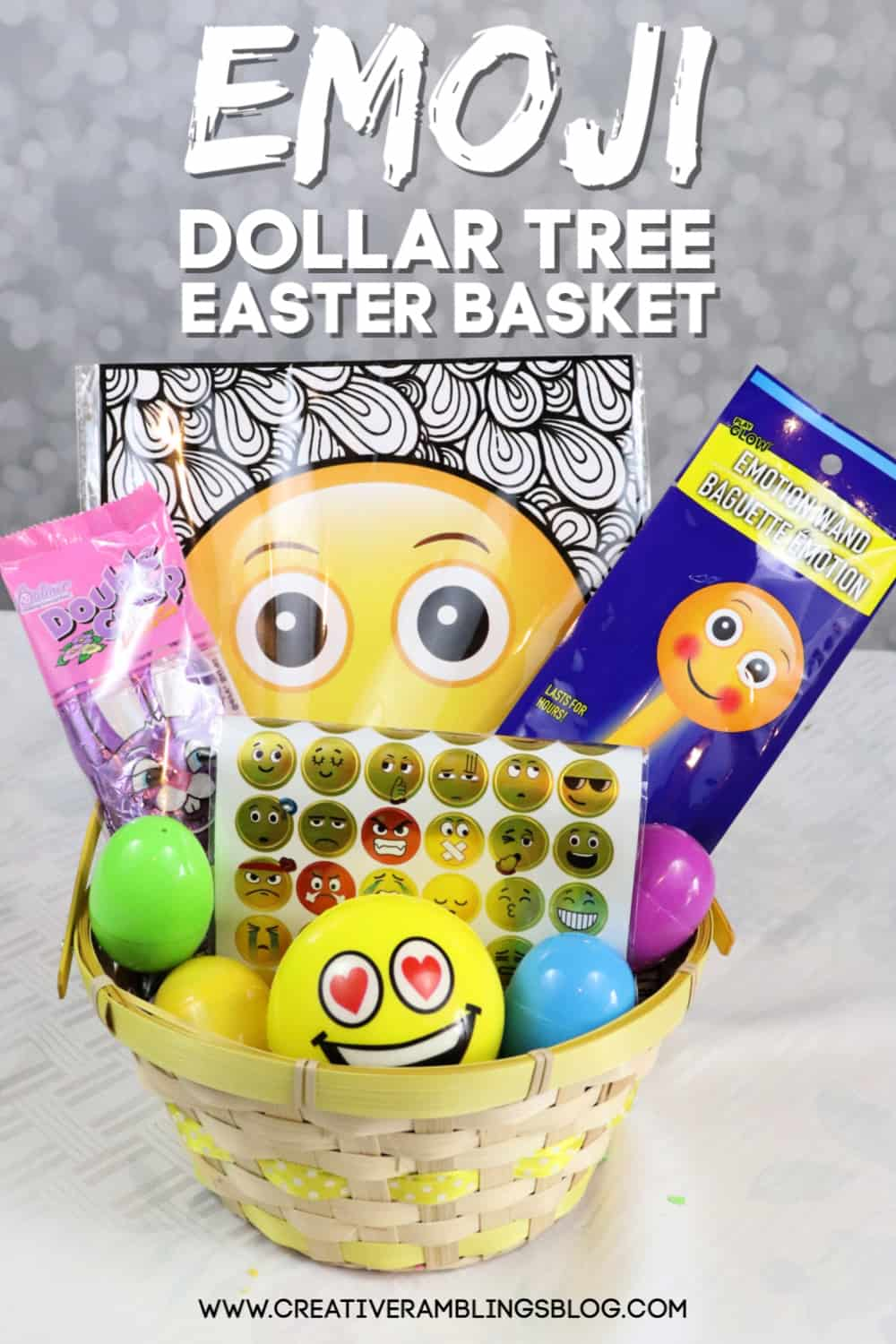 Dollar Tree Easter Basket Emoji