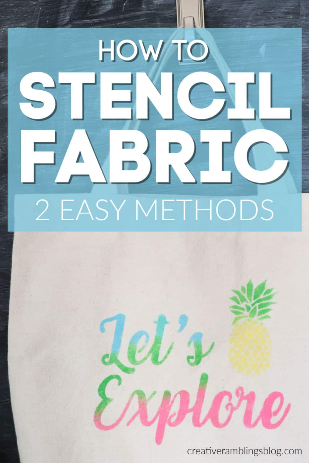 Learn how to stencil fabric using 2 easy methods