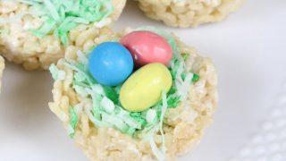 Rice Krispie Treat Nests for Easter