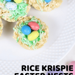 Rice Krispies treat nests for Easter pin 1