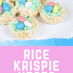 Rice Krispies treat nests for Easter pin 2