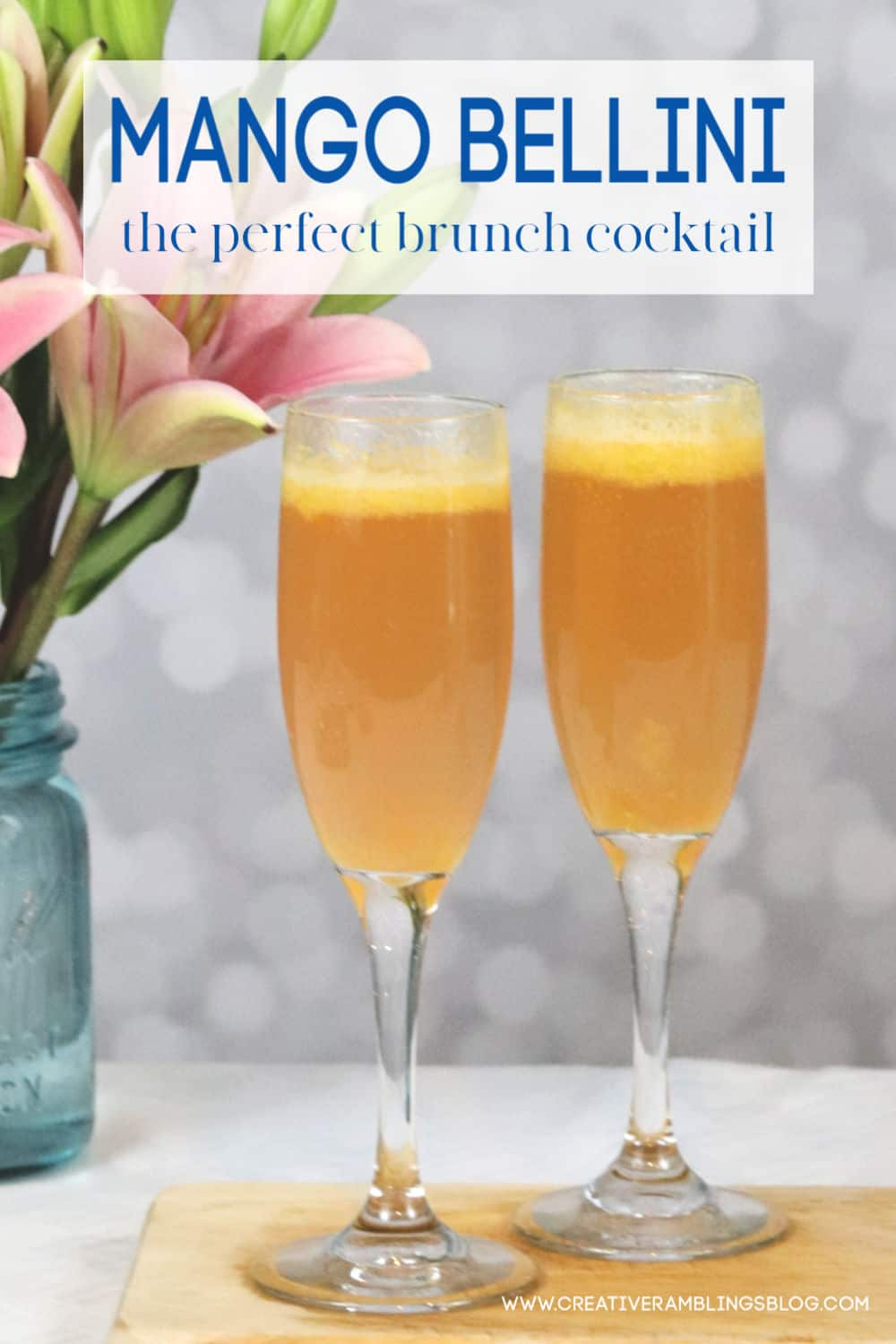 mango bellini cocktail recipe the perfect brunch cocktail