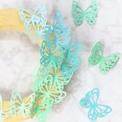 ombre paper butterfly wreath
