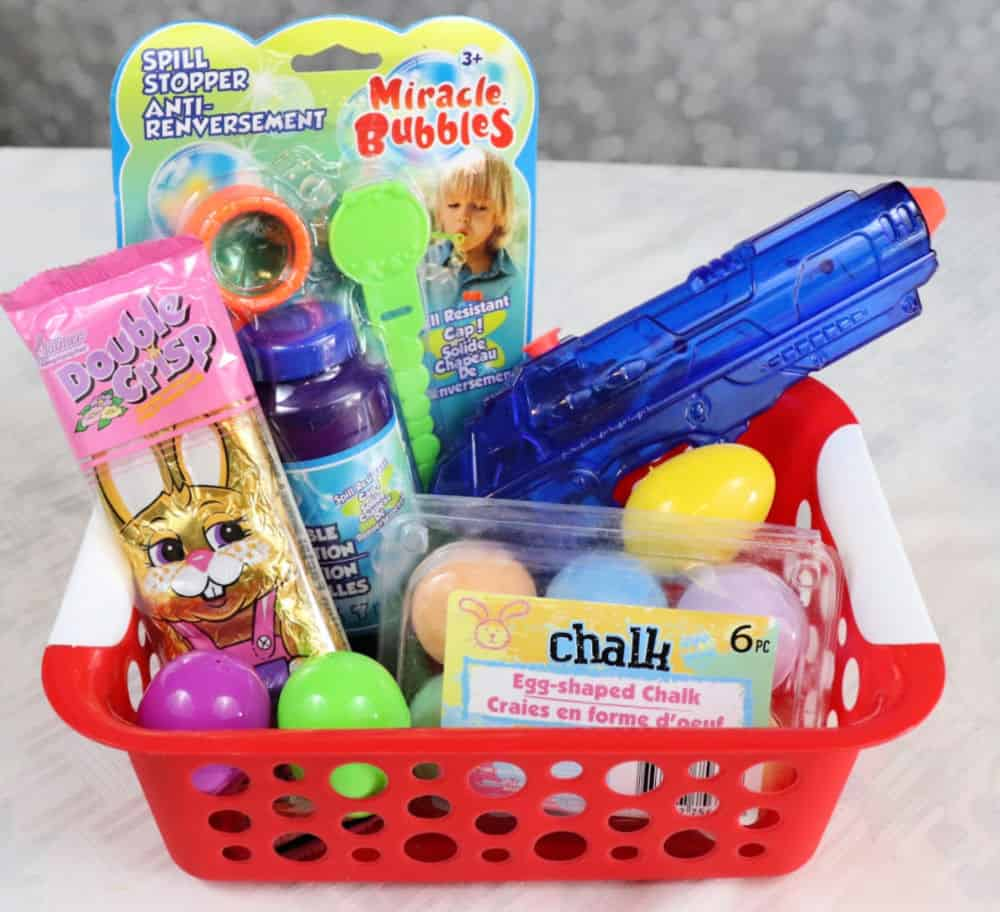 Dollar Tree outdoor fun easter basket