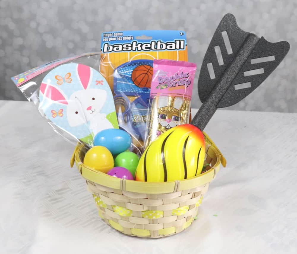 Dollar Tree Sports easter basket
