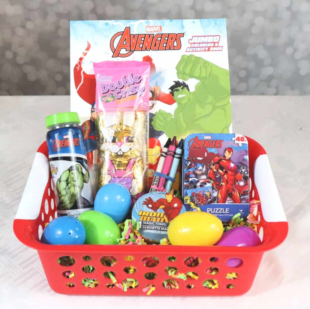 Dollar Tree superhero easter basket