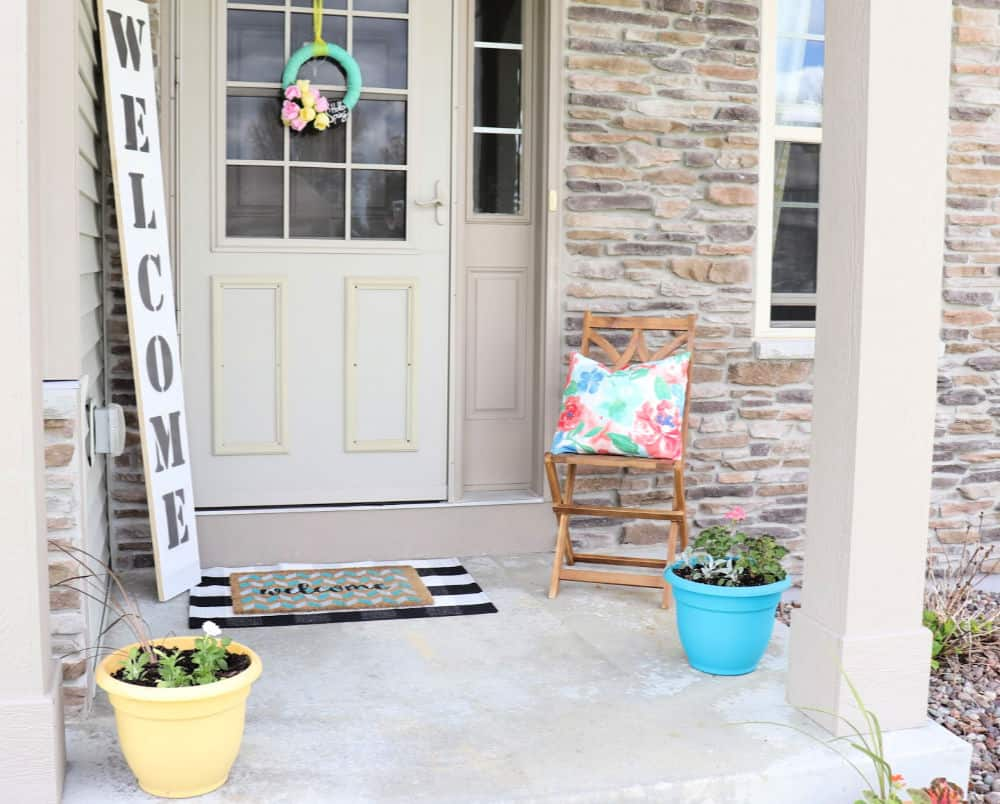 Colorful Spring Front Porch