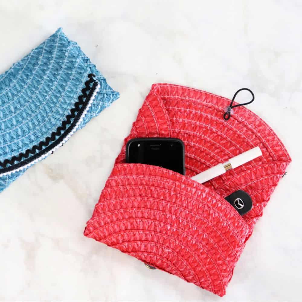Dollar Store place mat clutch purse step final