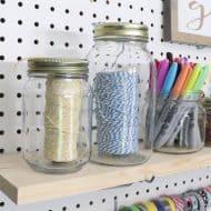 Mason Jar Organization for your Craft Room