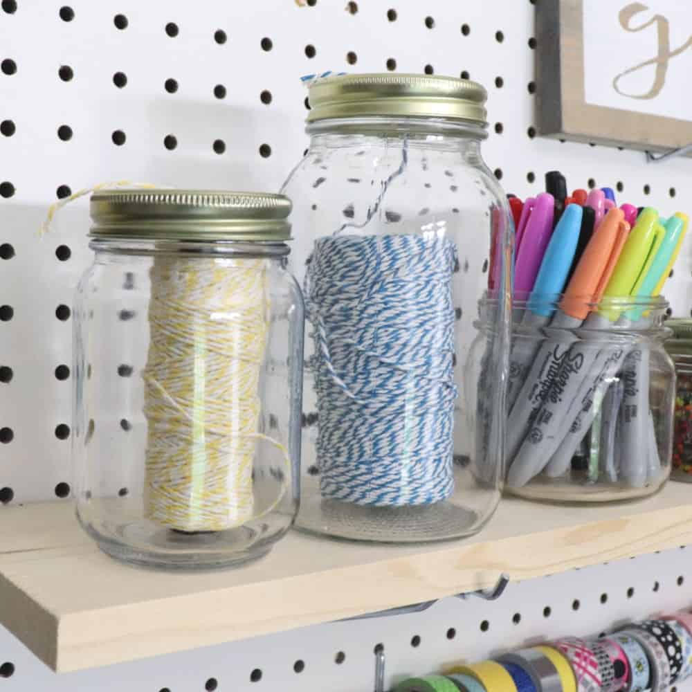Mason Jar Organization for your Craft Room - Creative Ramblings