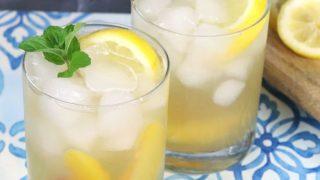 Sparkling Bourbon Lemonade with Peach
