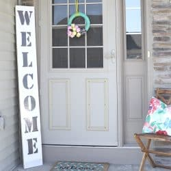 Welcome sign front porch