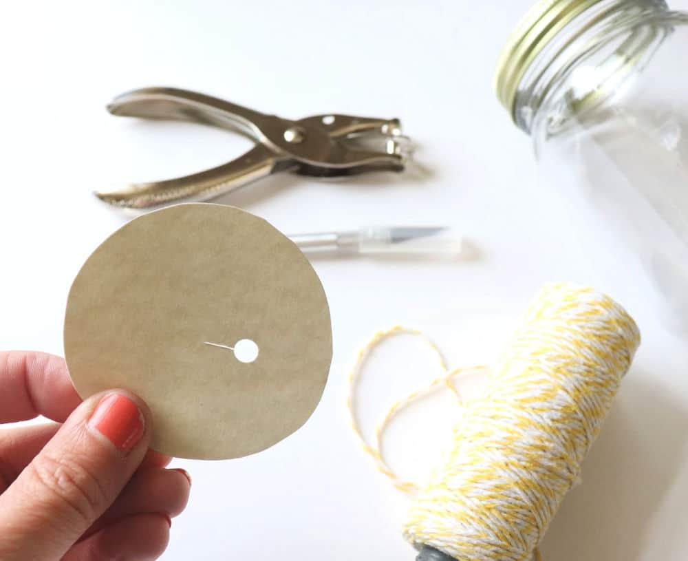 mason jar organization for twine