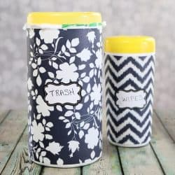 upcycle wipes containers - simple hack to keep your car clean
