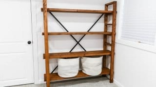 How to build a simple bookshelf: West Elm Knock-Off