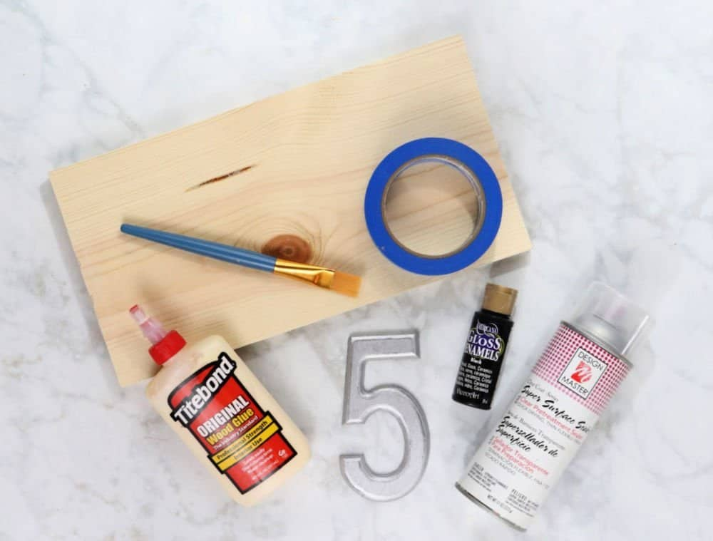 DIY House Number Sign supplies