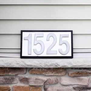 DIY house number sign square