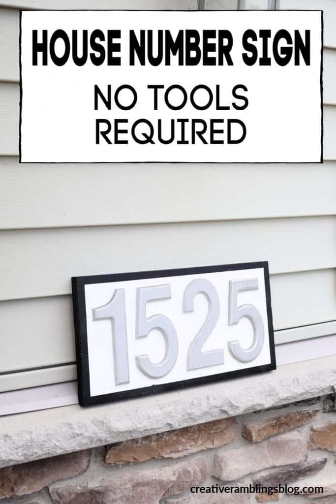 House number sign no tools required