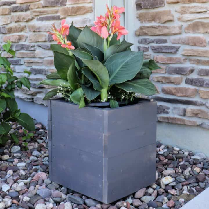 2 hour DIY wood planter box square