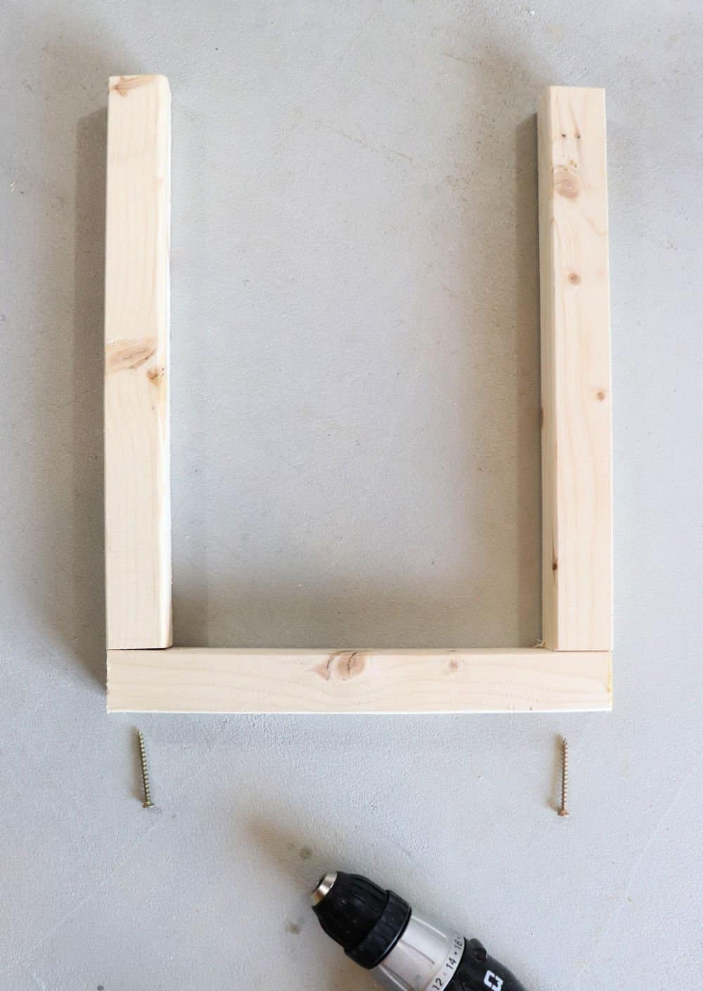 2 x 2 frame for wood planter box