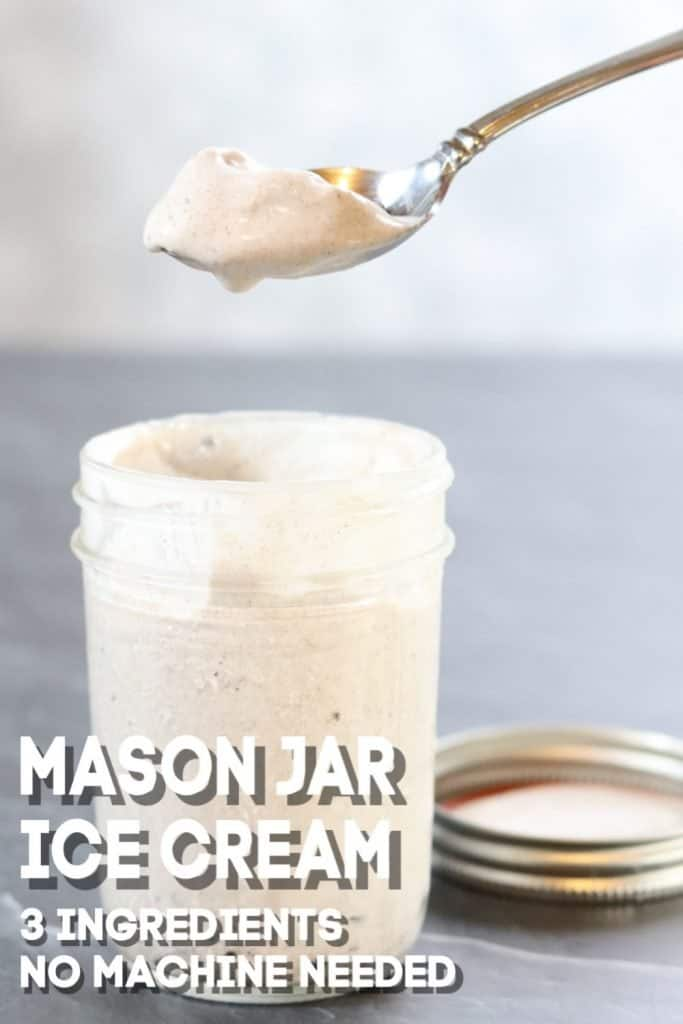 3 ingredient mason jar ice cream