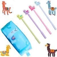 Llama Ballpoint Pens and Pouch