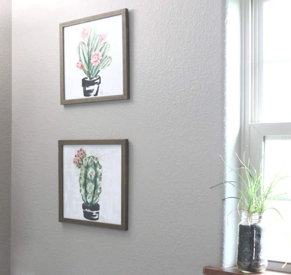 Update a bathroom with wall art - fourth photo