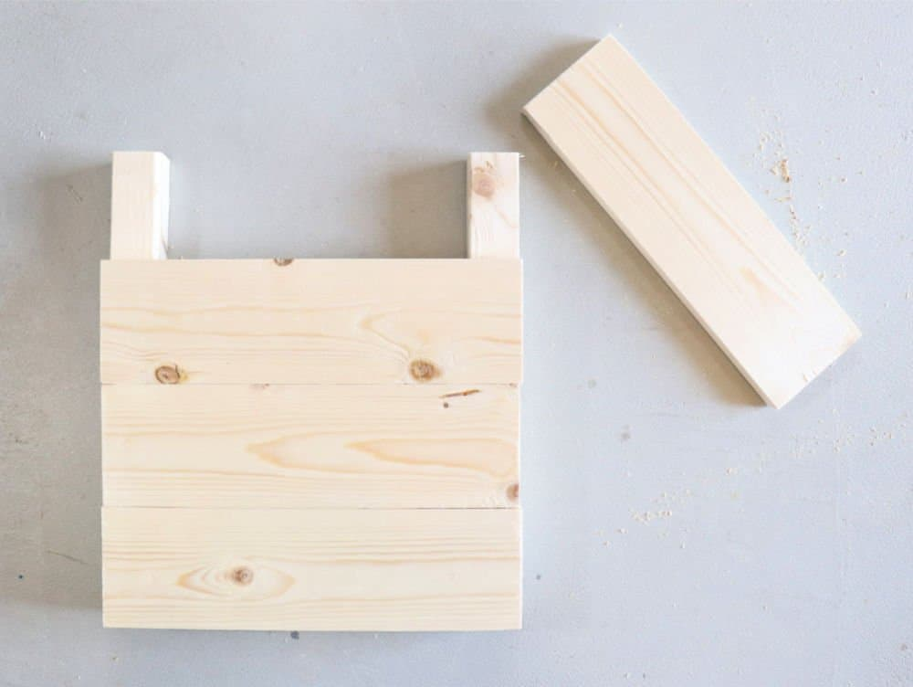 build sides of wood planter box