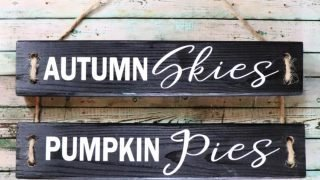 DIY Fall Wood Sign with Vinyl
