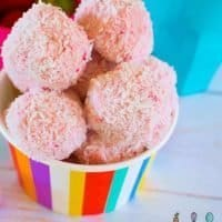 4 Ingredient Strawberry Cheesecake Bliss Balls