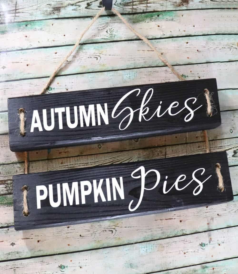 Autumn Skies Pumpkin Pies DIY Fall Wood Sign