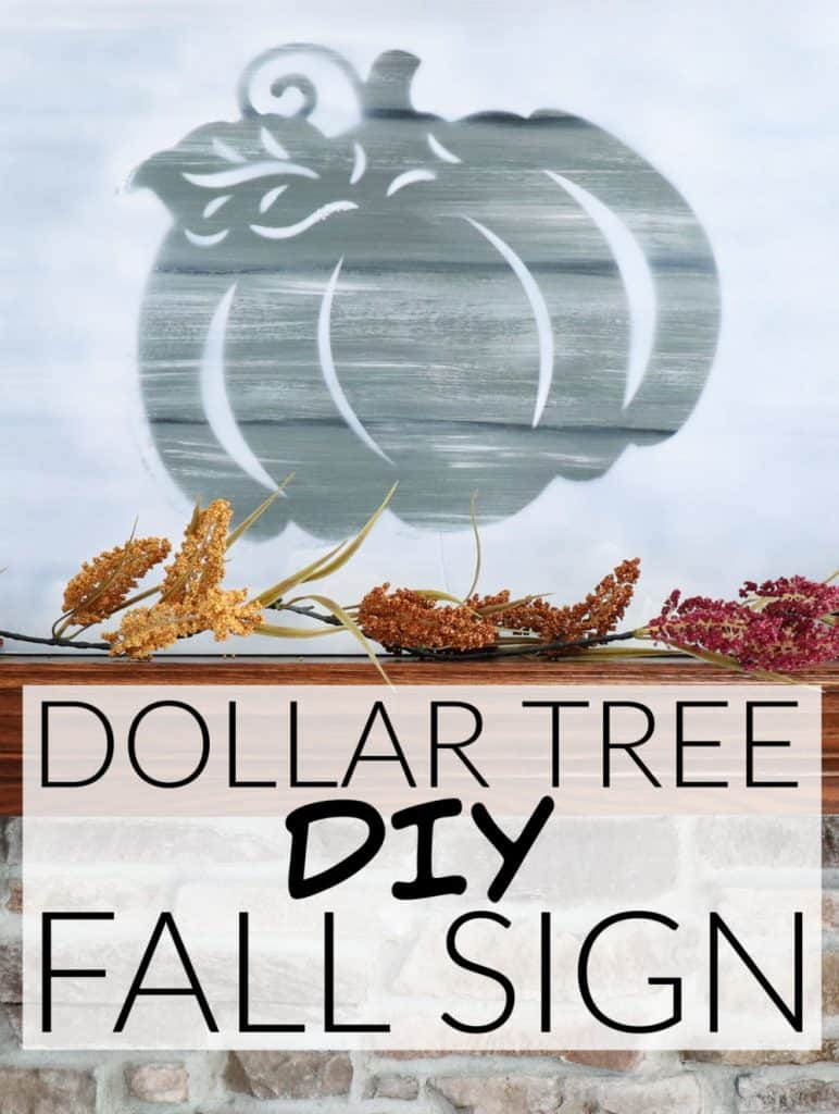 DIY Dollar Tree fall sign faux wood pumpkin sign