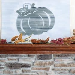 Dollar Tree fall pumpkin sign faux wood