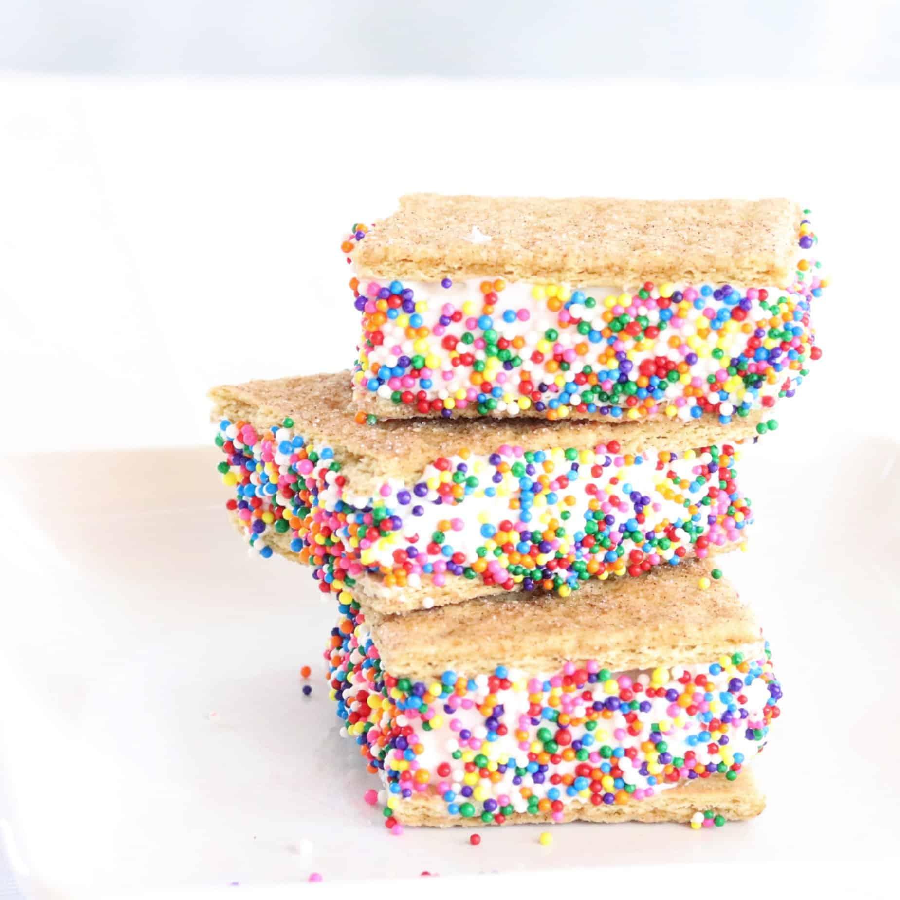 Frozen cool whip sandwich square