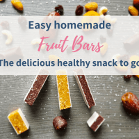 Homemade fruit bars – 1 recipe and 3 variations