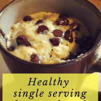 Healthy single serving banana bread (gluten-free!)