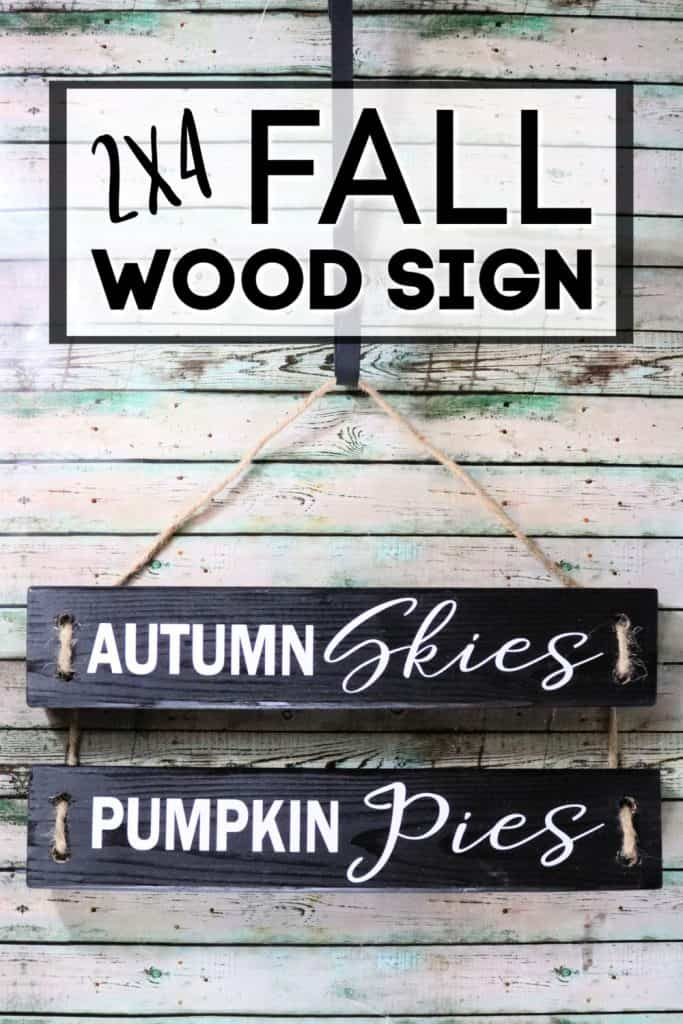 How to make a 2x4 wood sign for fall