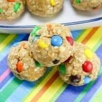 No Bake Monster Cookie Oatmeal Energy Balls
