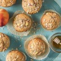 Peach Muffin Recipe {naturally sweetened}