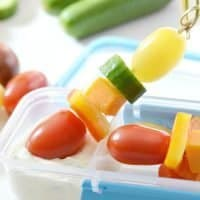 Veggie Skewers with Homemade Ranch Dip: Make Snacking Fun