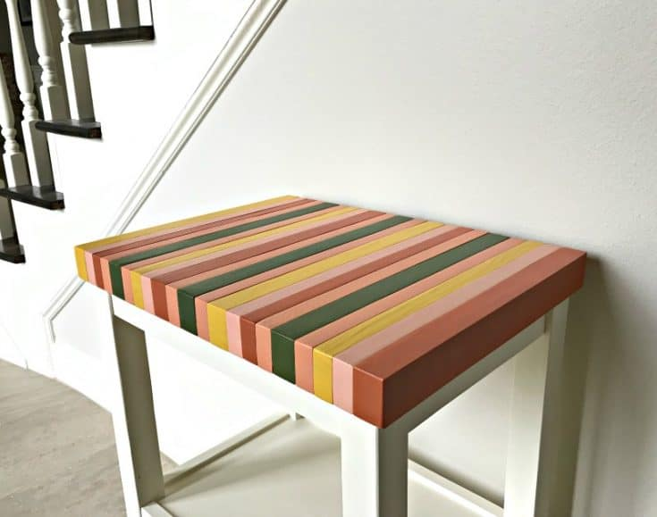 DIY Wood Color Block Table Top from 2×4's