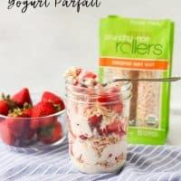 Easy Dairy Free Strawberry Yogurt Parfait (Gluten Free)